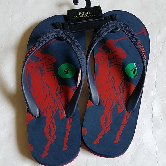 258674cd6a66 Ralph Lauren polo boys flip flops